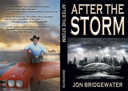 Full cover design for crime and mystery fiction title