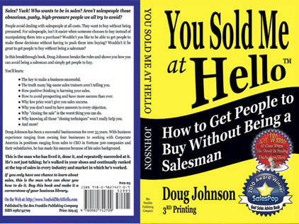 Full cover design for a how-to sales book
