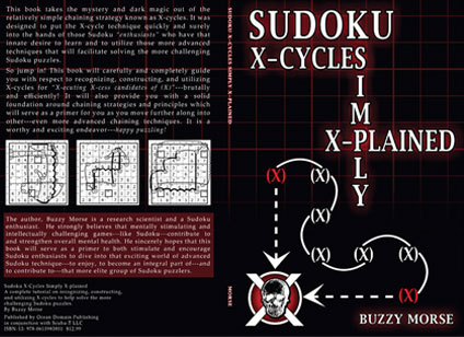 Cover designed for a nonfiction sudoku x-cycle strategy book