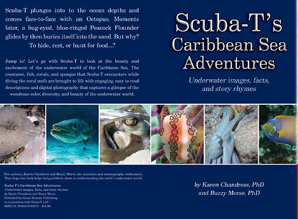 Book cover design for Carribean seas kids photography and poetry book